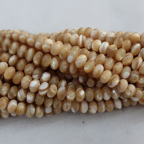 Trocas Shell Mother of Pearl Rondelle Beads