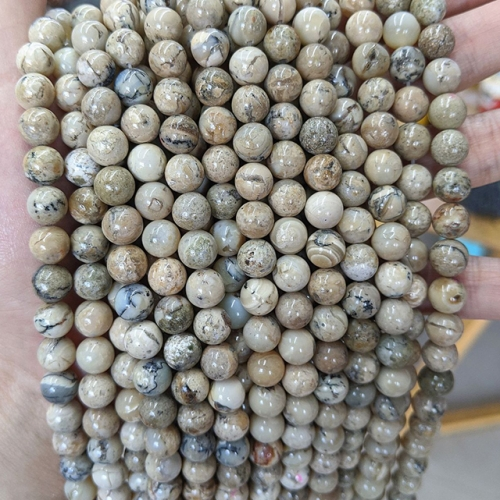African Opal Round Beads