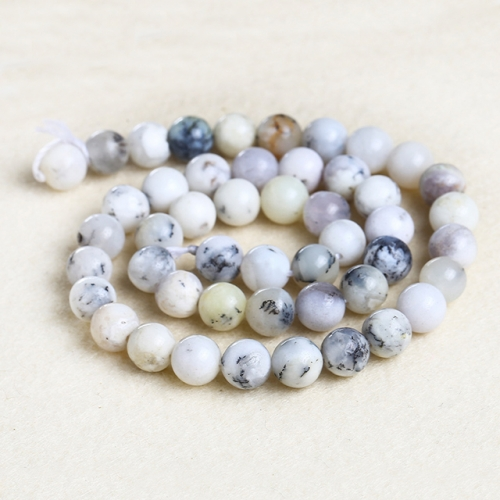 Natural White Opal Round Beads